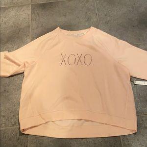 Rae dunn peach xoxo sweatshirt